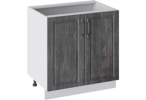 Шкаф напольный (ПРОВАНС (Белый глянец/Санторини темный)) - фото 1