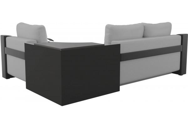 Угловой диван Митчелл Белый/Черный (Экокожа) - фото 5