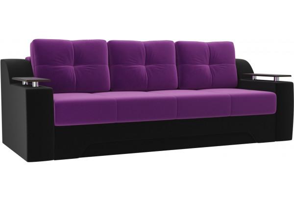 Диван прямой Сенатор Фиолетовый/Черный (Микровельвет) - фото 1
