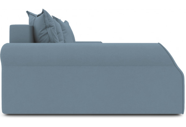 Диван угловой левый «Люксор Т2» (Poseidon Ocean (иск.замша) серо-голубой) - фото 5