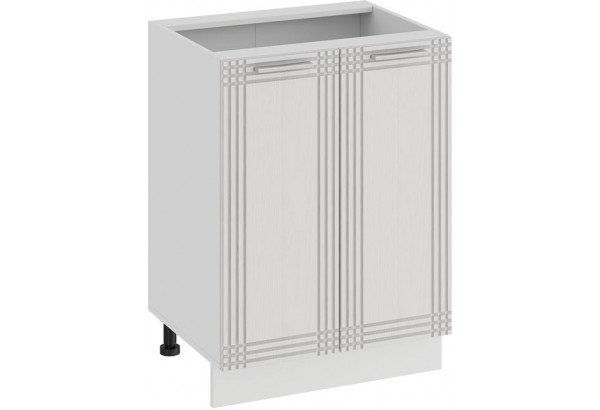 Шкаф напольный с двумя дверями «Ольга» (Белый/Белый) - фото 1