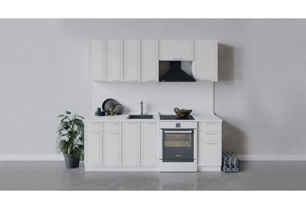Кухонный гарнитур «Ольга» длиной 220 см (Белый/Белый) - фото 1