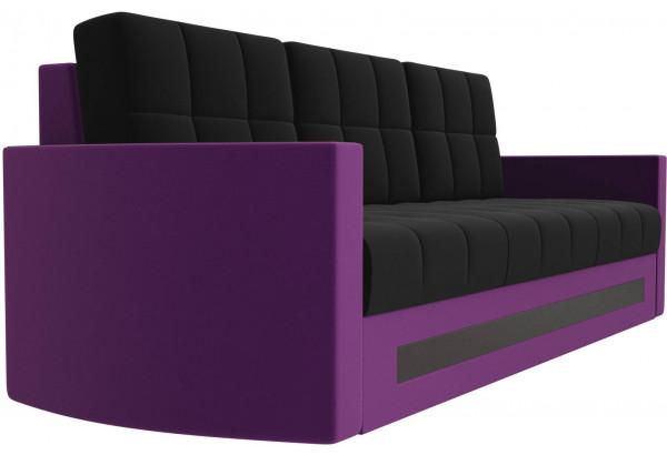 Диван прямой Белла черный/фиолетовый (Микровельвет) - фото 3