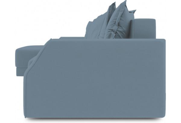 Диван угловой левый «Люксор Slim Т1» (Poseidon Ocean (иск.замша) серо-голубой) - фото 3