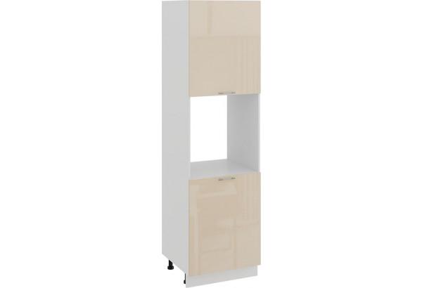 Шкаф-пенал под бытовую технику с двумя дверями «Весна» (Белый/Ваниль глянец) - фото 1