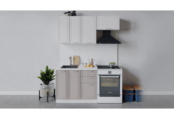 Кухонный гарнитур «Ольга» длиной 160 см (Белый/Белый/Кремовый) - фото 1