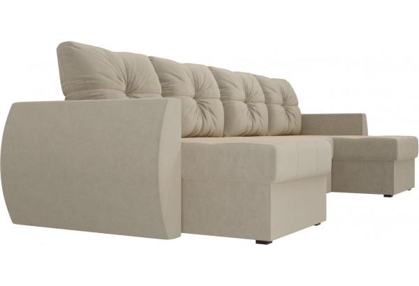 П-образный диван Сатурн Бежевый (Микровельвет) - фото 3
