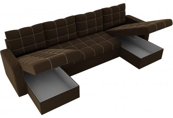 П-образный диван Ливерпуль Коричневый (Микровельвет) - фото 5