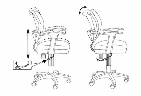 Кресло компьютерное Бюрократ CH-W797/LB/TW-55 - фото 6