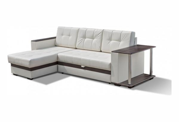 """Угловой диван """"Атланта"""" молочный (экокожа) - фото 1"""