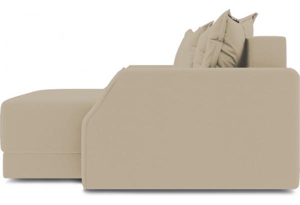 Диван угловой правый «Люксор Slim Т1» (Poseidon Latte (иск.замша) коричнево-бежевый) - фото 5