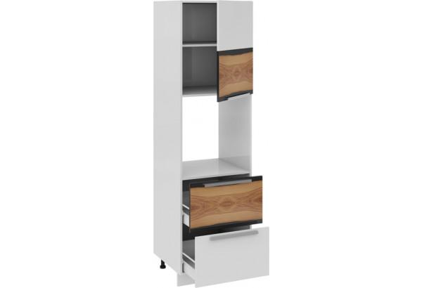 Шкаф пенал под бытовую технику с 2-мя ящиками (правый) Фэнтези (Вуд) - фото 1