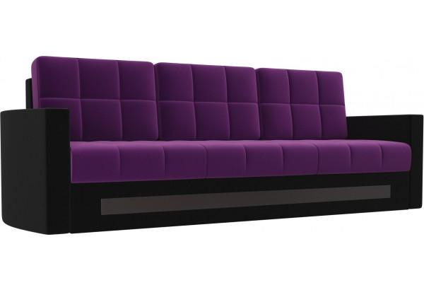 Диван прямой Белла Фиолетовый/Черный (Микровельвет) - фото 1