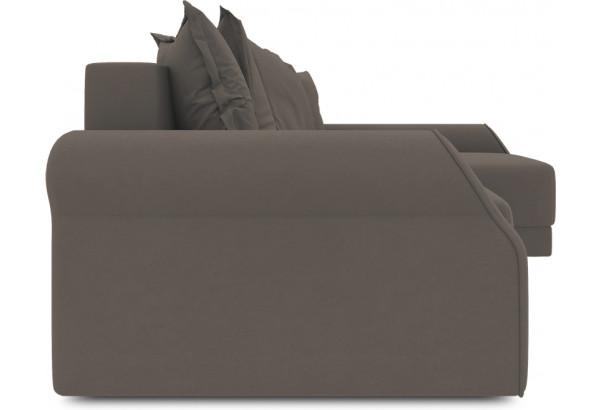 Диван угловой правый «Люксор Т2» (Poseidon Coffee (иск.замша) коричневый) - фото 3