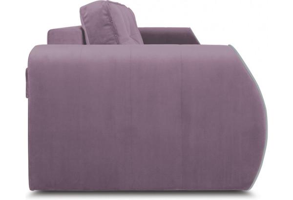 Диван «Хьюго» (Fenix Lilac (микровелюр) Лиловый кант Fenix Silver (микровелюр) Светло - серый) - фото 3