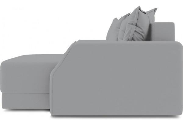 Диван угловой правый «Люксор Slim Т1» (Poseidon Grey (иск.замша) серый) - фото 5