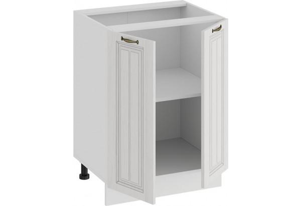 Шкаф напольный с двумя дверями «Лина» (Белый/Белый) - фото 2