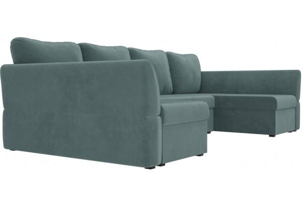 П-образный диван Гесен бирюзовый (Велюр) - фото 3
