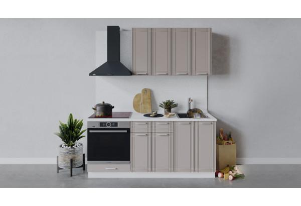 Кухонный гарнитур «Ольга» длиной 180 см со шкафом НБ (Белый/Кремовый) - фото 1