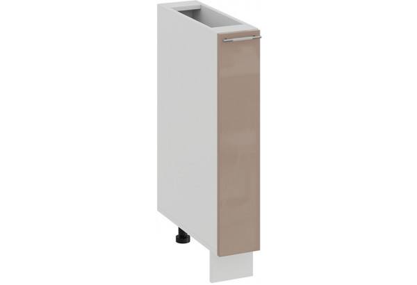 Шкаф напольный с выдвижной корзиной «Весна» (Белый/Кофе с молоком) - фото 1
