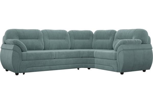Угловой диван Бруклин бирюзовый (Велюр) - фото 1