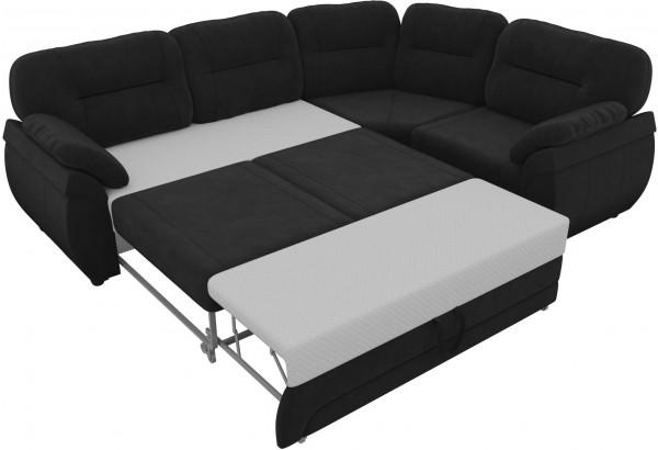 Угловой диван Бруклин Черный (Велюр) - фото 5