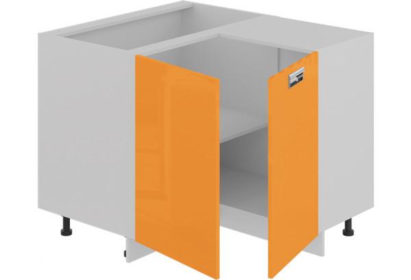 Шкаф напольный нестандартный угловой с углом 90° (БЬЮТИ (Оранж)) - фото 2
