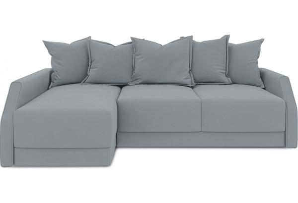 Диван угловой левый «Люксор Slim Т2» (Kolibri Silver (велюр) серый) - фото 2