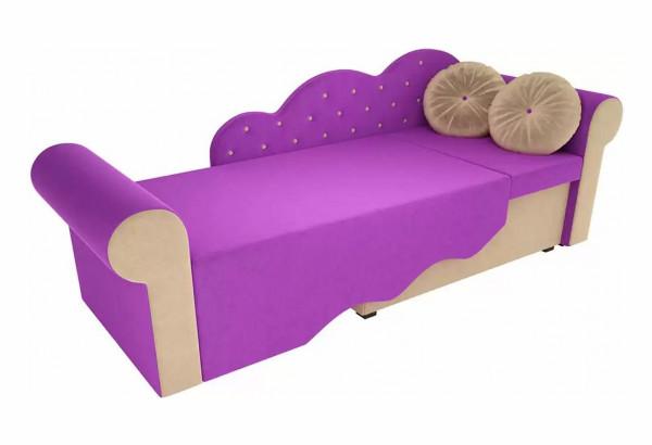 Детская кровать Тедди-2 фиолетовый/бежевый (Микровельвет) - фото 3