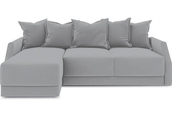 Диван угловой левый «Люксор Slim Т1» (Poseidon Grey (иск.замша) серый) - фото 2