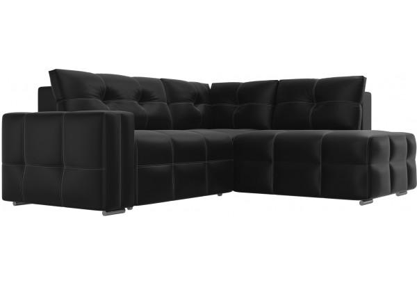 Угловой диван Леос Черный (Экокожа) - фото 3