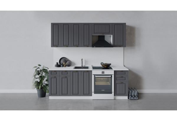 Кухонный гарнитур «Лина» длиной 220 см (Белый/Графит) - фото 1