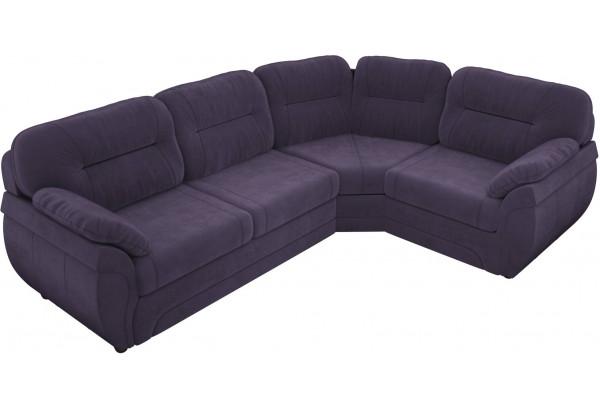 Угловой диван Бруклин Фиолетовый (Велюр) - фото 3