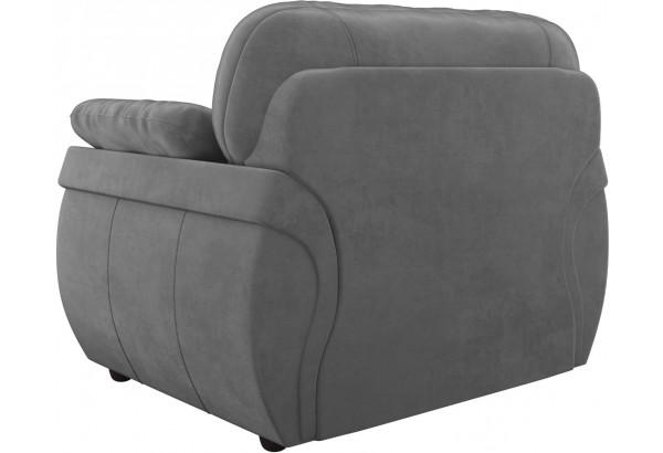 Кресло Бруклин Серый (Велюр) - фото 5