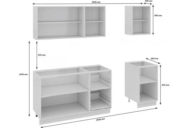 Кухонный гарнитур длиной - 240 см Фэнтези (Белый универс)/(Вуд) - фото 3