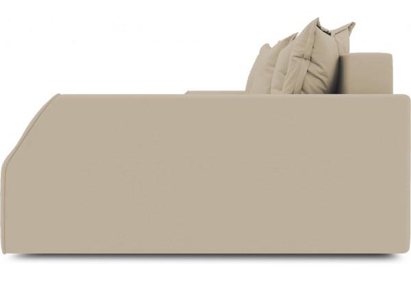 Диван угловой правый «Люксор Slim Т2» (Poseidon Latte (иск.замша) коричнево-бежевый) - фото 5