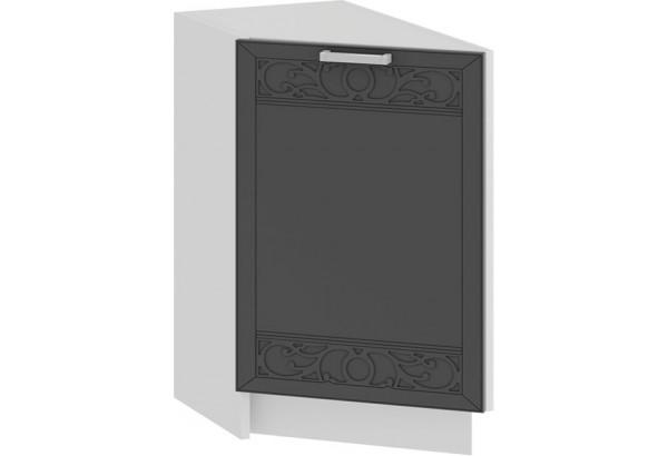 Шкаф напольный торцевой с одной дверью «Долорес» (Белый/Титан) - фото 1