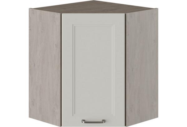 Шкаф навесной угловой с углом 45° ОДРИ (Бежевый шелк) - фото 1