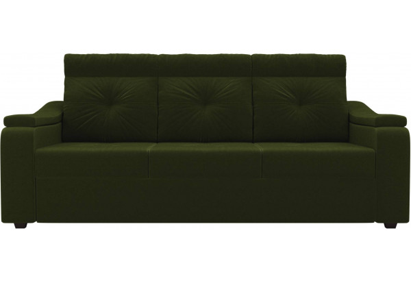 Диван прямой Джастин Зеленый (Микровельвет) - фото 2