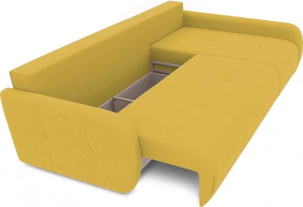 Диван угловой правый «Томас Slim Т2» (Poseidon Curcuma (иск.замша) желтый) - фото 6