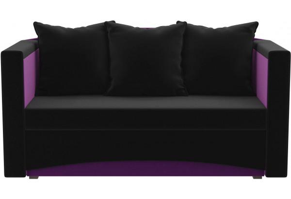 Кушетка Чарли черный/фиолетовый (Микровельвет) - фото 2