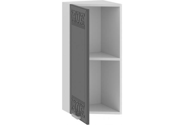 Шкаф навесной торцевой «Долорес» (Белый/Титан) - фото 2