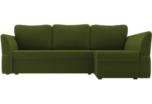 Угловой диван Гесен Зеленый (Микровельвет) - фото 2