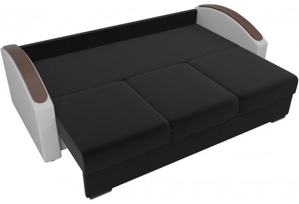 Прямой диван Монако slide Черный/Белый (Микровельвет/Экокожа) - фото 6