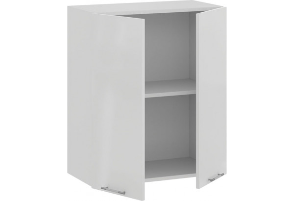 Шкаф навесной c двумя дверями «Весна» (Белый/Белый глянец) - фото 2