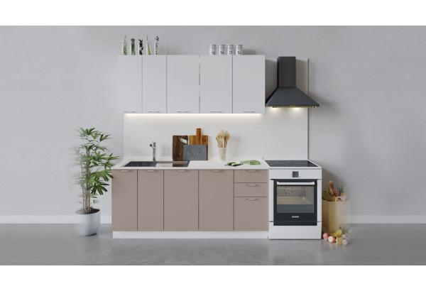 Кухонный гарнитур «Весна» длиной 180 см (Белый/Белый глянец/Кофе с молоком) - фото 1