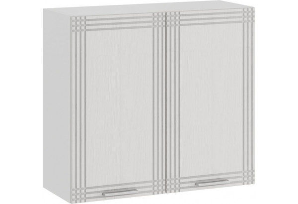Шкаф навесной c двумя дверями «Ольга» (Белый/Белый) - фото 1