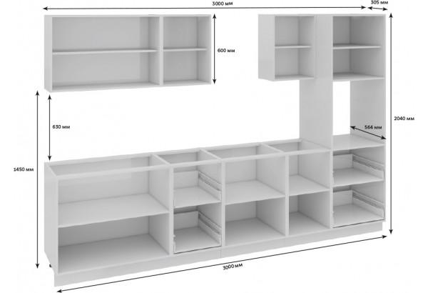 Кухонный гарнитур длиной - 300 см (с пеналом ПБ) Фэнтези (Белый универс)/(Лайнс) - фото 3