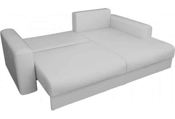 Угловой диван Мэдисон Белый (Экокожа) - фото 7
