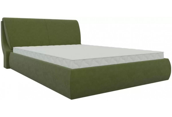Интерьерная кровать Принцесса Зеленый (Микровельвет) - фото 1